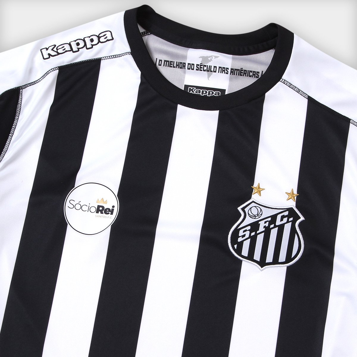 f90841cabc286 Camisa Santos II 17 18 s n° Manga Longa - Torcedor Kappa Masculina - Branco  e Preto
