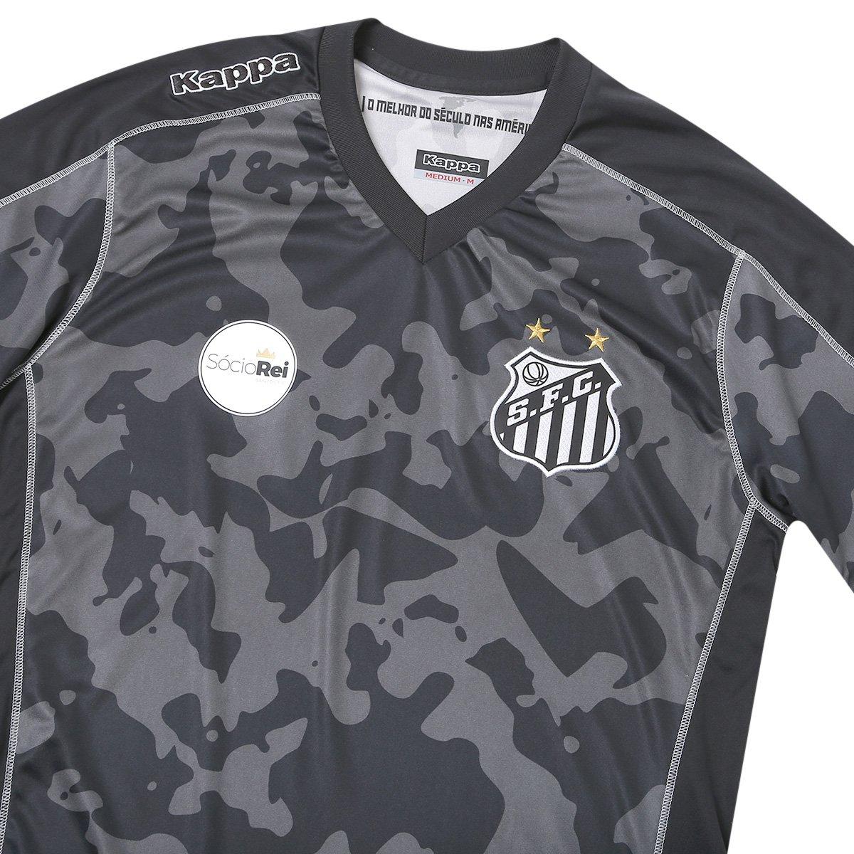 Camisa Santos III 17 18 s n° - Torcedor Kappa Masculina - Preto ... a93a66c8e900e