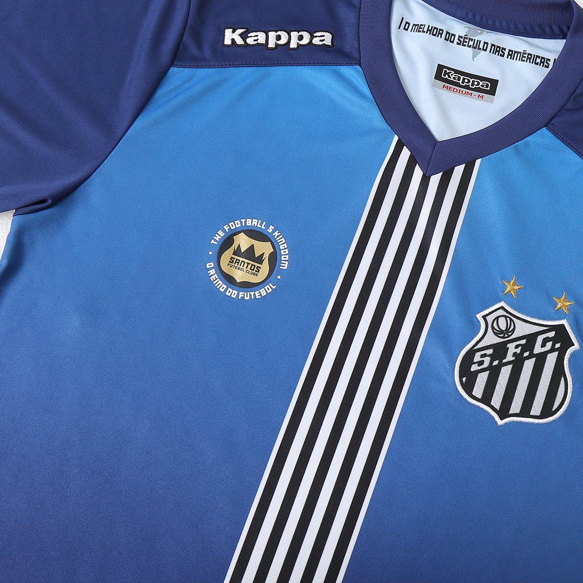 Camisa Santos III 2016 s nº Torcedor Kappa Masculina - Azul e Marinho  ea7a72a6e920b2 ... 1e969a236fe09