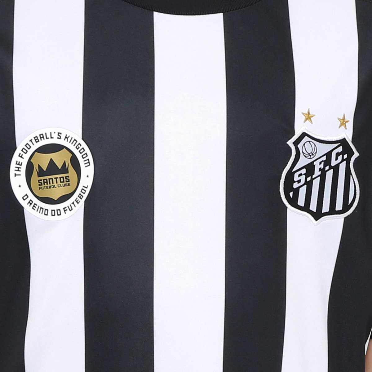9449f803b90af Camisa Santos Infantil II 17 18 s nº Réplica Torcedor Kappa - Preto e Branco