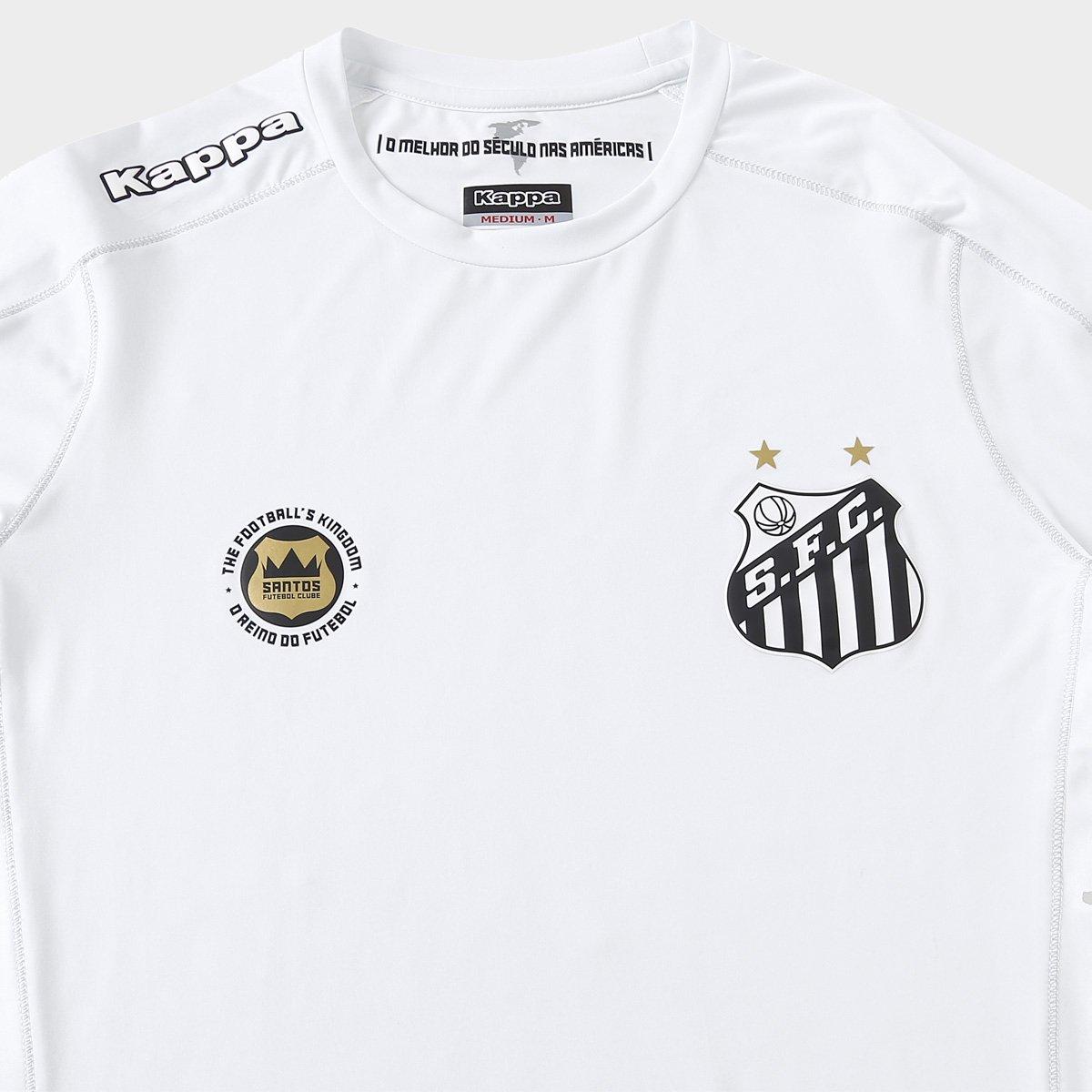 e9cab2d83 Camisa Santos Kombat I 17 18 s nº Jogador Kappa Masculina - Branco ...
