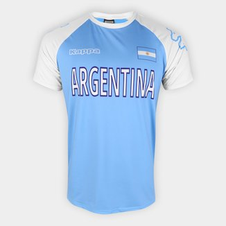 Camiseta Argentina Logo Kappa Masculina