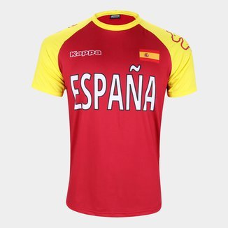 Camiseta Espanha Logo Kappa Masculina