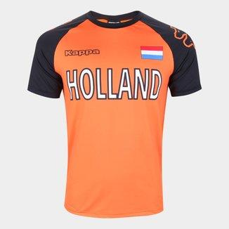 Camiseta Holanda Logo Kappa Masculina