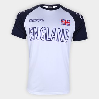 Camiseta Inglaterra Logo Kappa Masculina