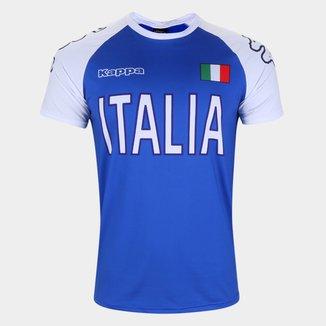 Camiseta Itália Logo Kappa Masculina
