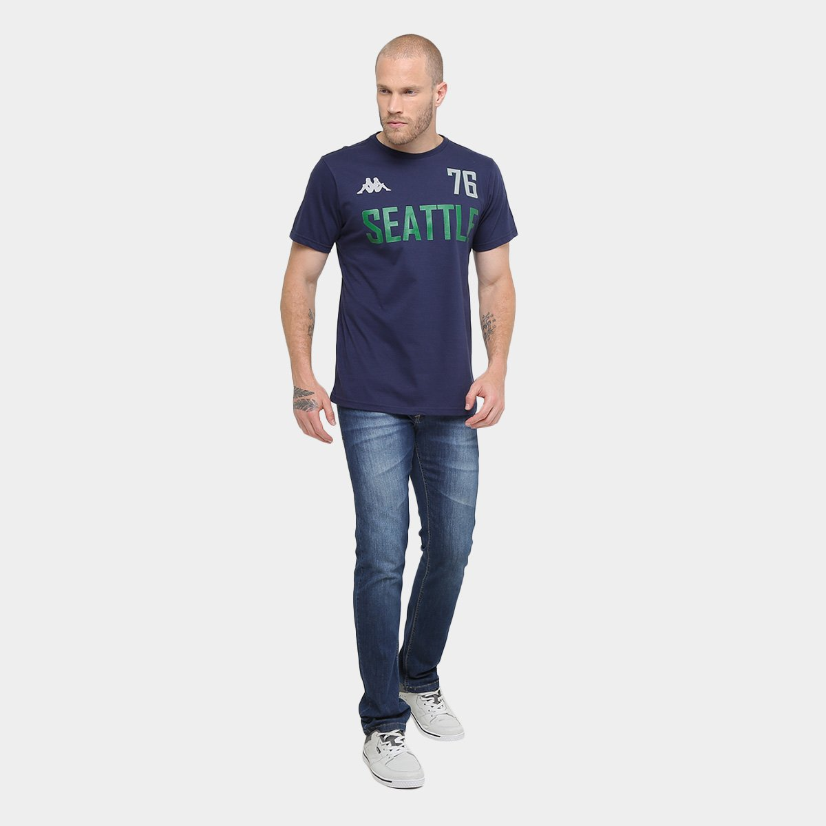 Camiseta Kappa Seattle Masculina - Compre Agora  ce9bb17238da3