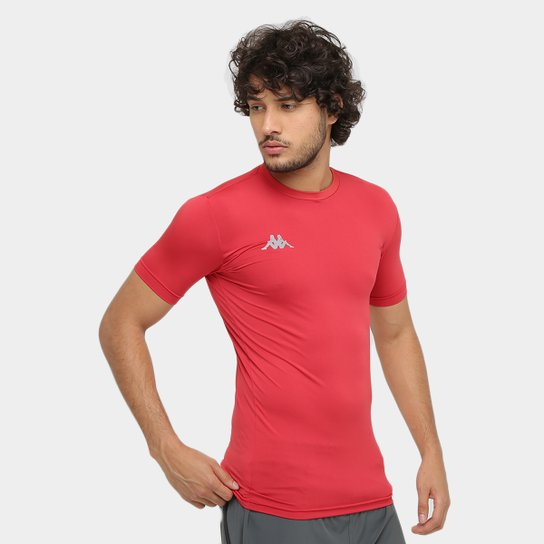Camiseta Kappa Térmica Embrace Masculina - Vermelho