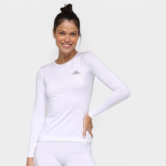 Camiseta Kappa Térmica Grip Manga Longa Feminina - Branco