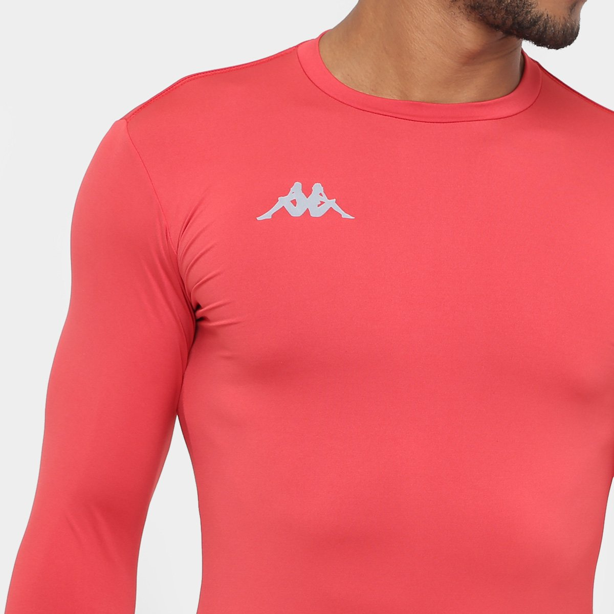 d75c14b1f7432 ... Camiseta Kappa Térmica Grip Manga Longa Masculina - Vermelho. EXCLUSIVO
