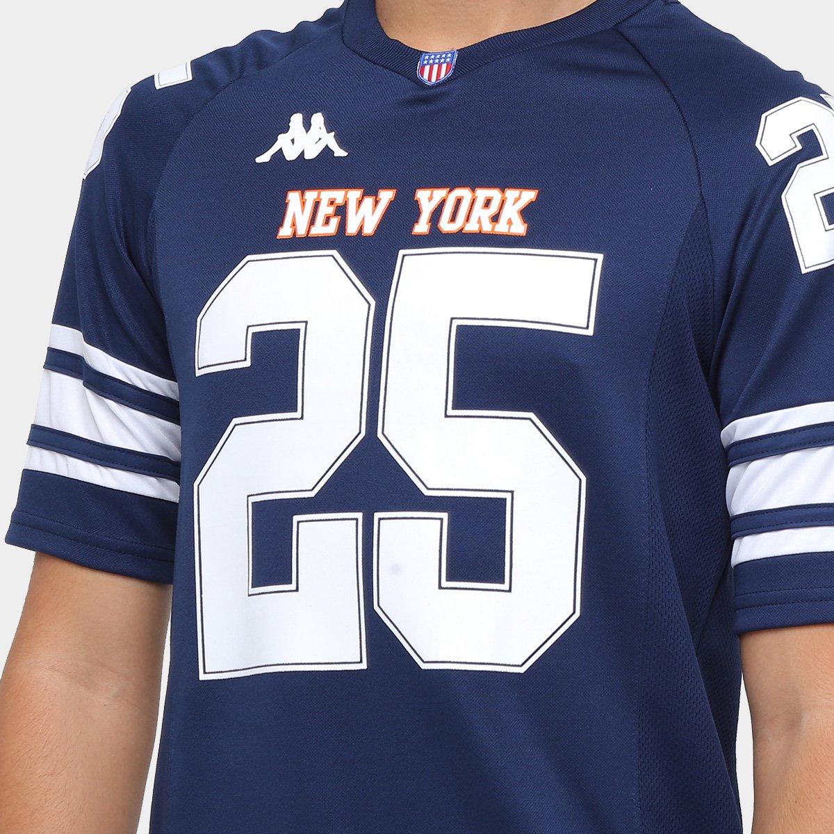1e4409c421 Camiseta New York Kappa Futebol Americano Masculina - Azul Royal