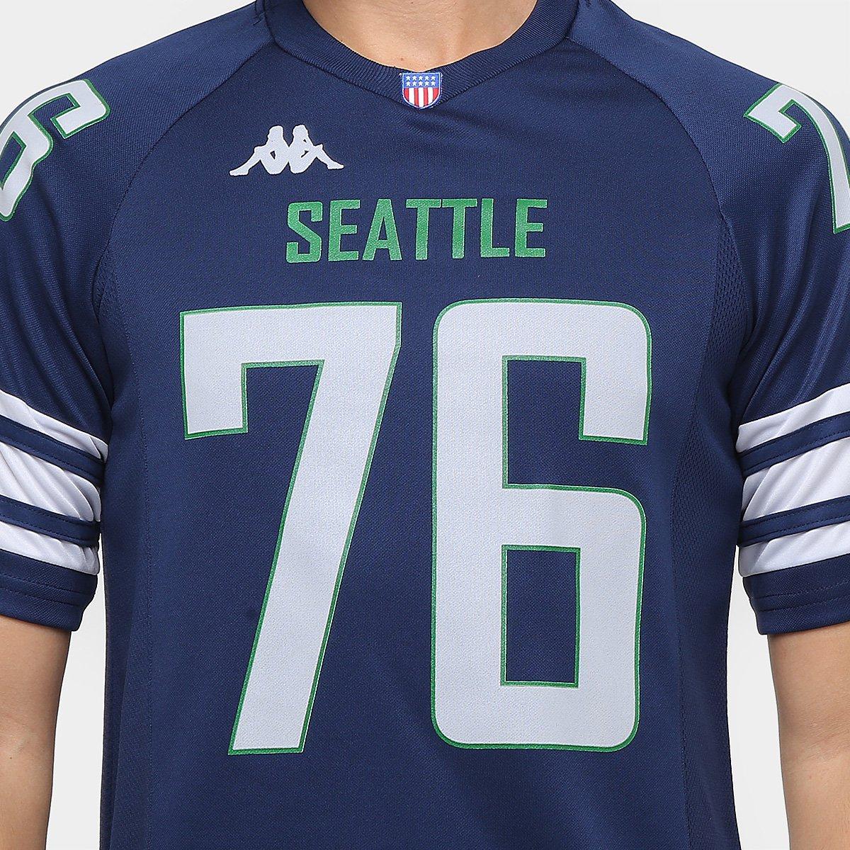 Camiseta Seattle Kappa Futebol Americano Masculina - Compre Agora ... 69595f84769fc