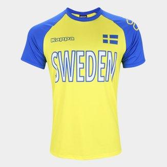 Camiseta Suécia Logo Kappa Masculina