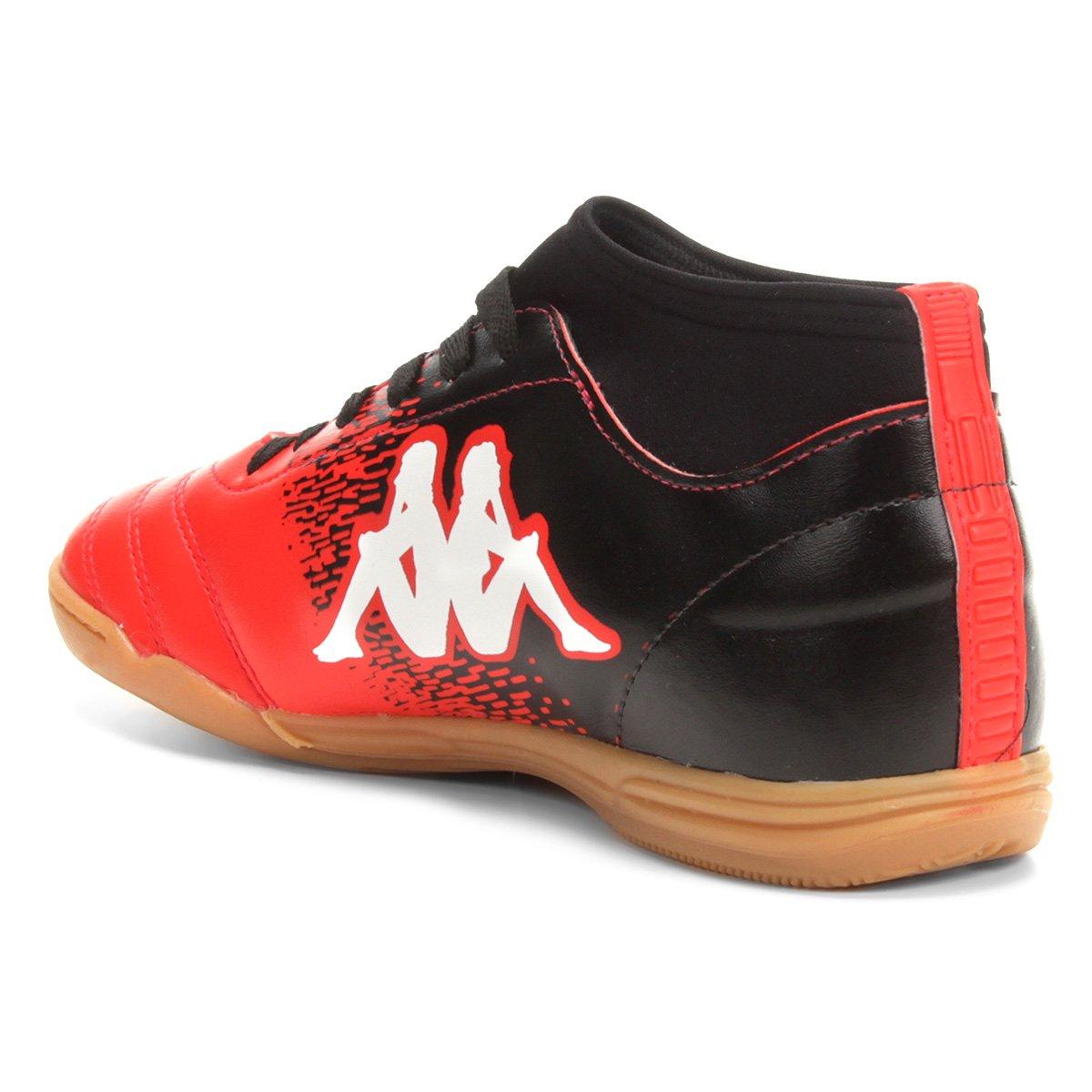 Chuteira Futsal Kappa Agility - Vermelho e Branco - Compre Agora  476125b2970a5