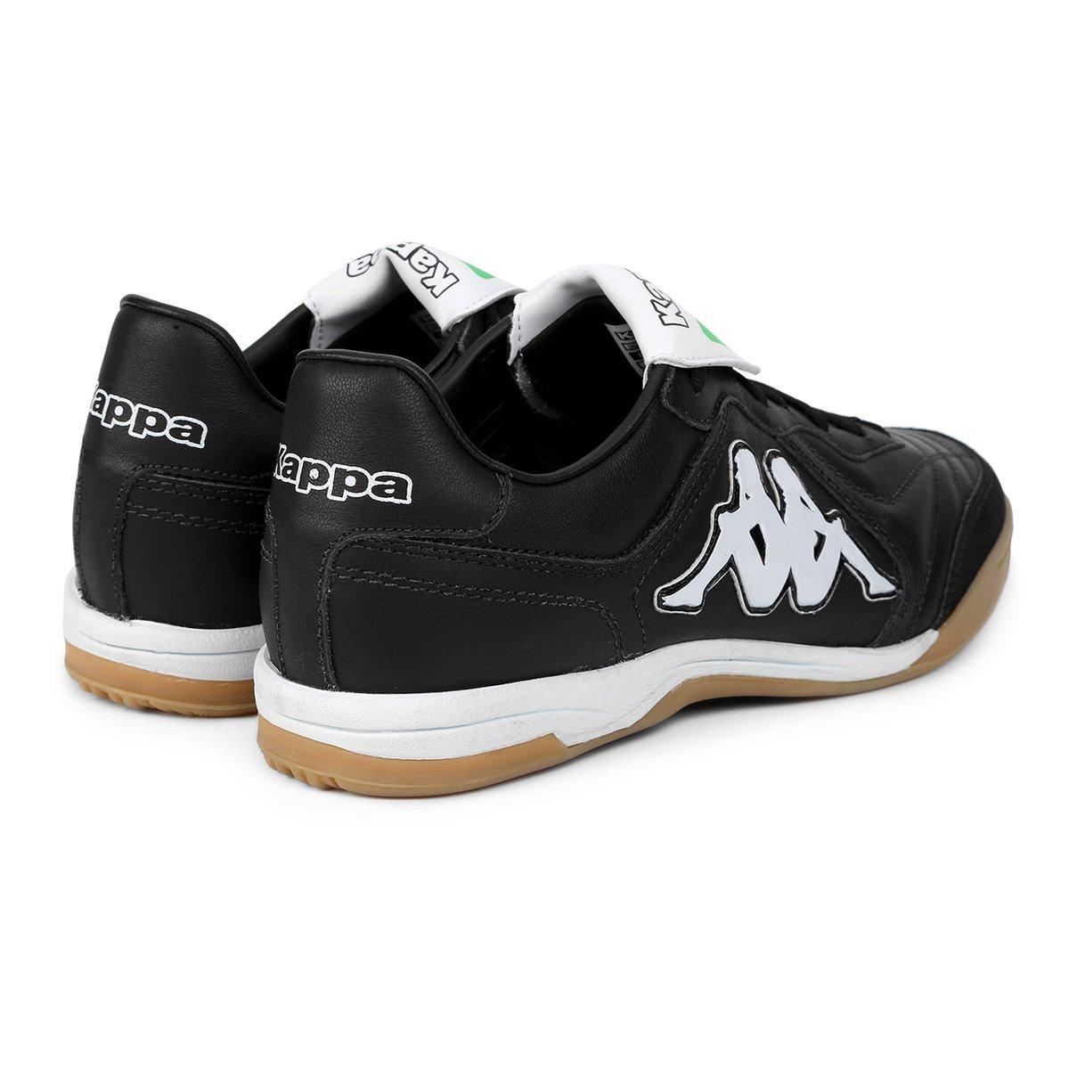 a4c164055c7ae Chuteira Futsal Kappa Pelle Couro - Preto - Compre Agora