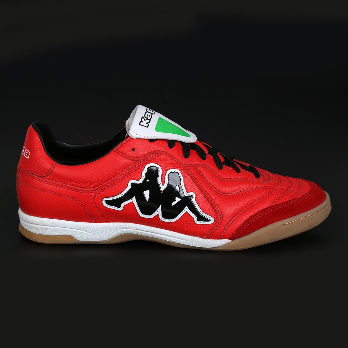 c757981f840a7 Chuteira Futsal Kappa Pelle Couro - Vermelho - Compre Agora