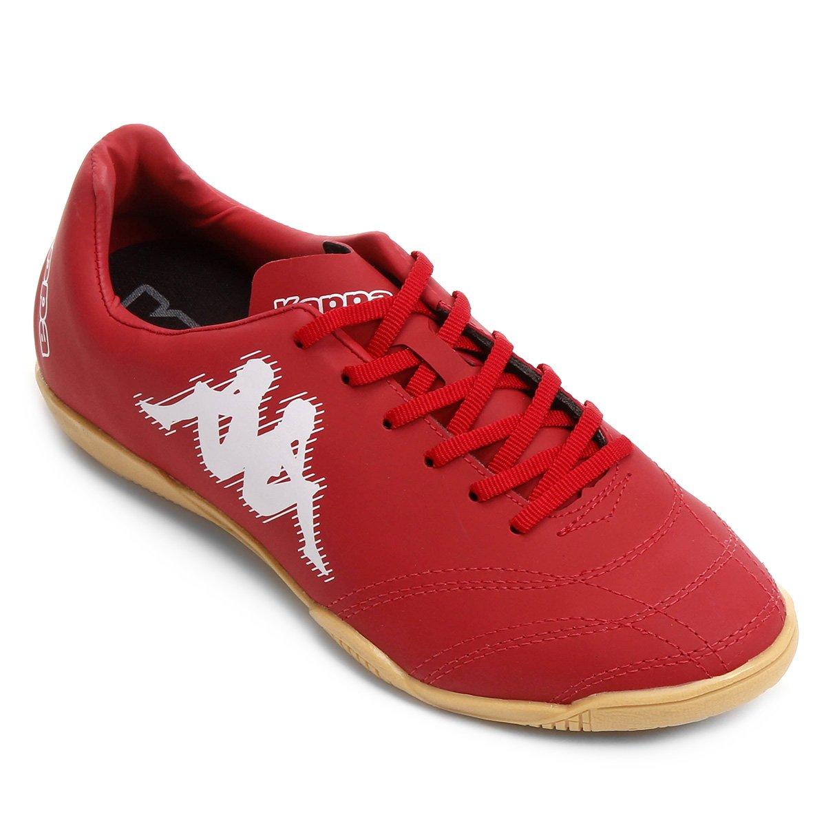 fd70f739b Chuteira Futsal Kappa Piave - Vermelho e Branco