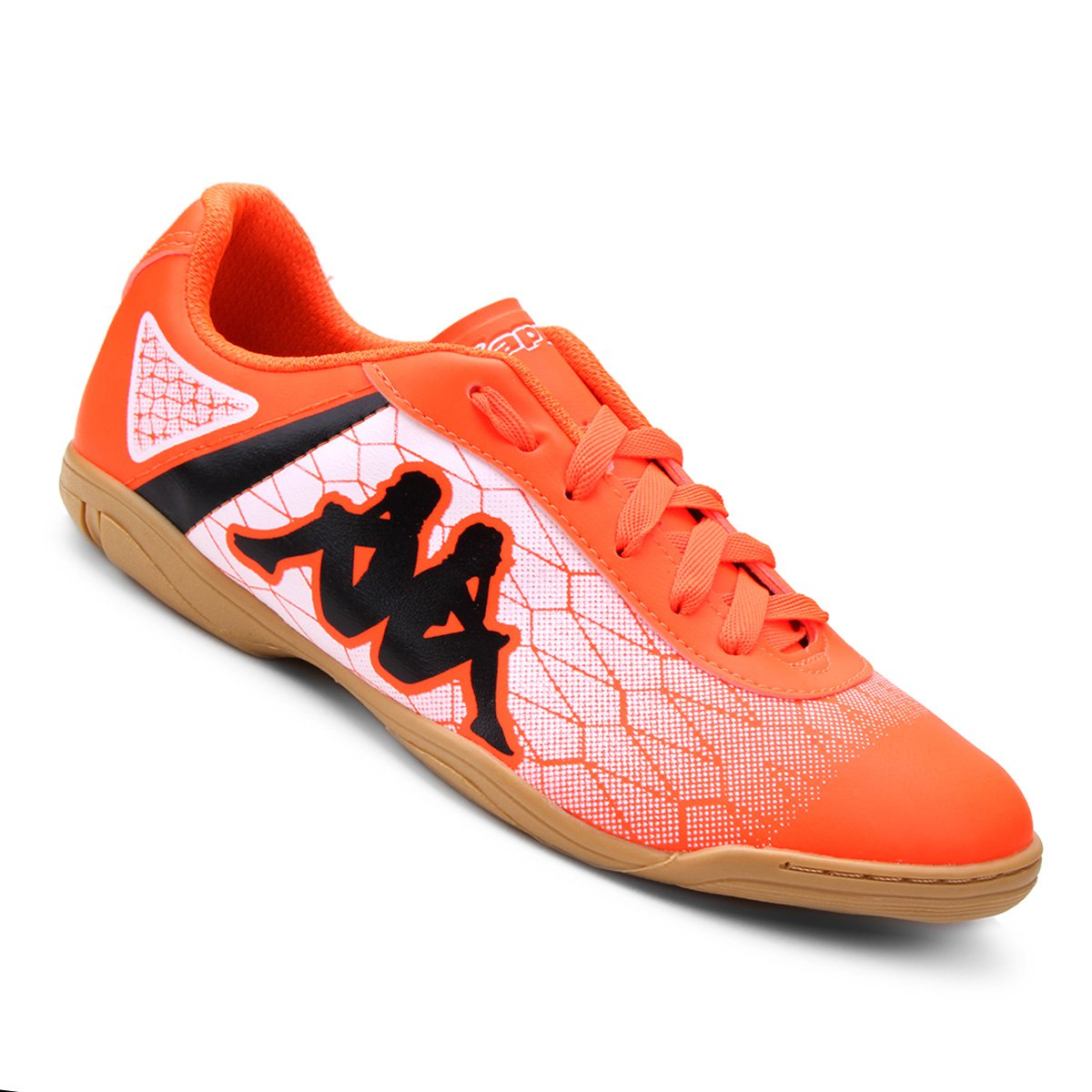 Chuteira Futsal Kappa Torpedo - Laranja e Branco - Compre Agora  ac0ec62172423