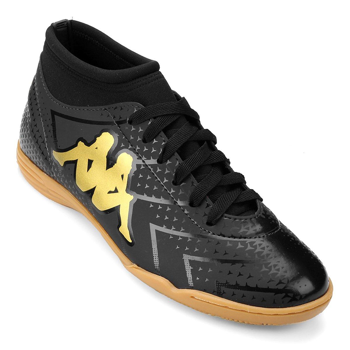 92ce697749 Chuteira Futsal Kappa Údine - Preto e Dourado - Compre Agora