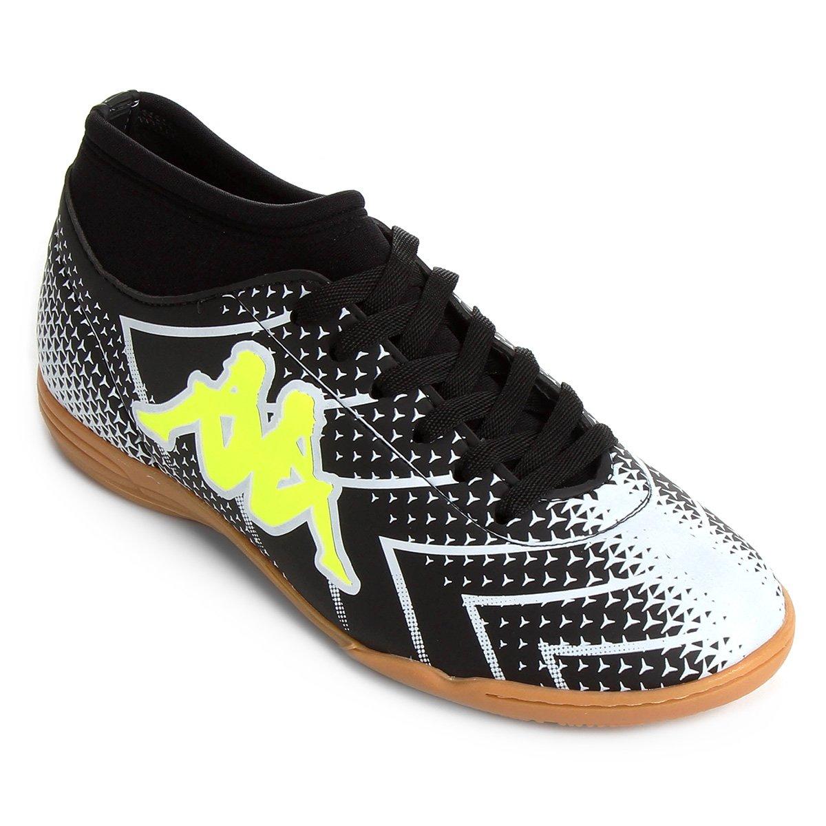 f6aa77c517 Chuteira Futsal Kappa Údine - Preto e Branco - Compre Agora