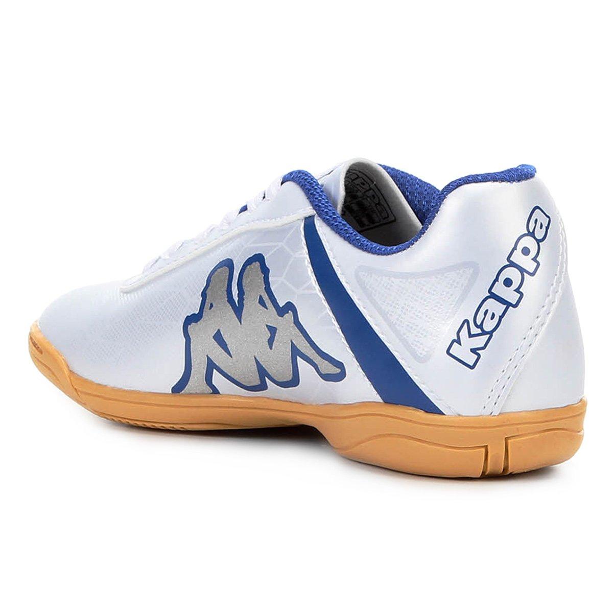 dae6aa5bf2 Chuteira Infantil Futsal Kappa Torpedo - Branco e Azul