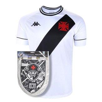Kit Camisa Vasco 2021 Away + Flâmula Oficial