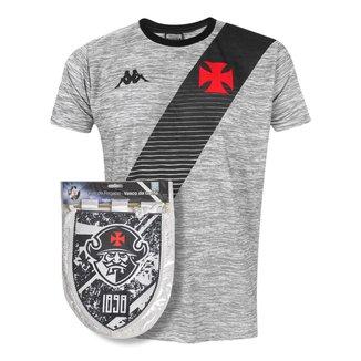 Kit Camisa Vasco 2021 Mixed Cinza + Flâmula Oficial