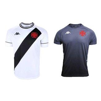 Kit Kappa 2 Camisas Vasco 2020 Away e Treino C.T
